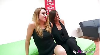 Two MILFs glutton for young hard-on