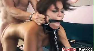 Slut Blair Summers gets treated right with chains and whips