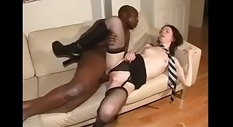 Horny Brunette Cheating her Man with a Big black cock