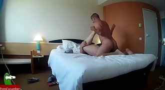 Couple has sex in bed in a hotel CRI194