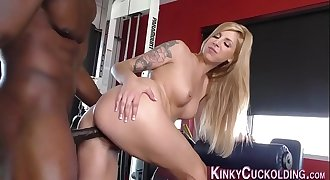 Mistress cuckolds fucking