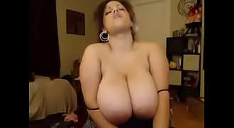 Titty-Cam.com - chubby coguar with big tits plays on web cam