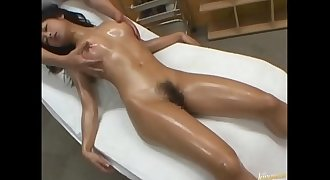Whats her name Asian oiled Table All Japanese Pass