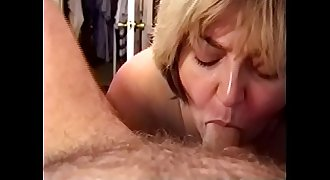 Amateur MILF Wife - Sucking Cock &_ Swallowing a Load of Cum