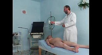 Pregnant cute girl railing her gynaecologist'_s hard prick